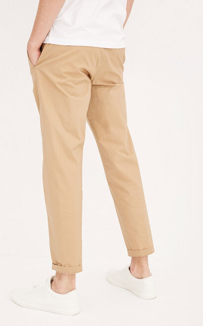 Jack Jones Men's Summer Pure Color Rolled Cuffs Pants E|217314501, Yellow, large