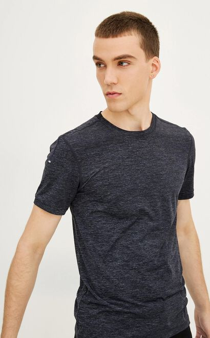 JackJones Men's Spring & Summer Slim Fit Quick-dry Round Neckline Short-sleeved T-shirt| 217201522, Black, large