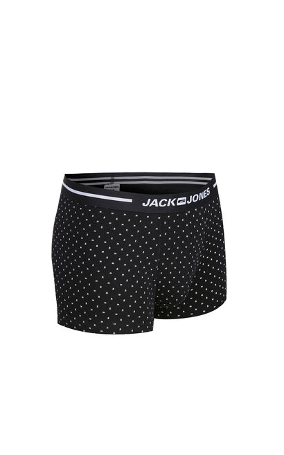 JackJones Men's Printed Waistband Stretch Cotton Boxer Shorts| 217192502, Blue, large