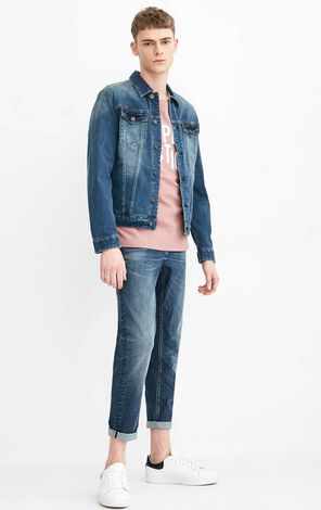 JC RAY CROPPED WINDY JEANS