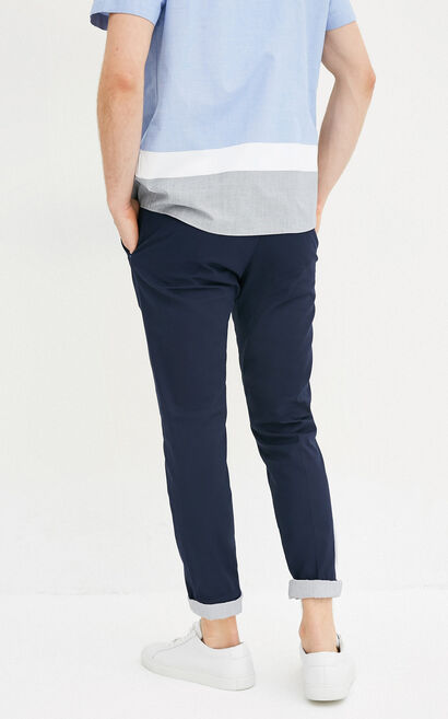 E WERDER PANTS-RO(ERIC FIT), Navy Blue, large