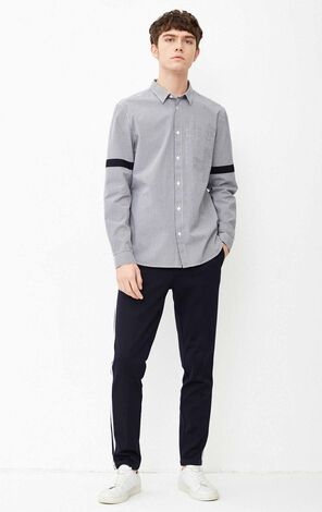 JACK JONES MEN'S SPRING 100% COTTON LOOSE FIT LONG SLEEVE SHIRT | 218105501