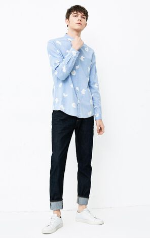 JACK JONES MEN'S YUM LONG-SLEEVED SHIRT (REGULAR FIT) | 218105522