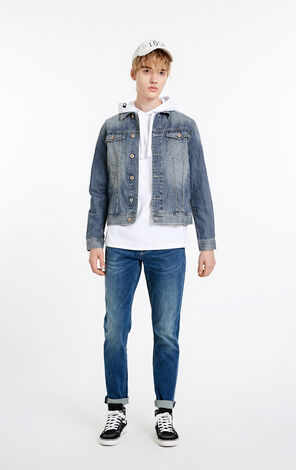 JackJones Men's 100% Cotton Denim Jacket J|219157535
