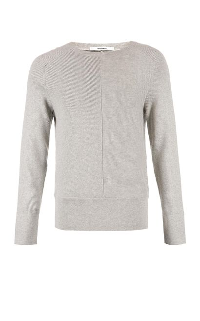 JACK JONES MEN'S ROUND NECKLINE PURE COLOR COTTON KNITTED SWEATER | 218124508, Grey, large