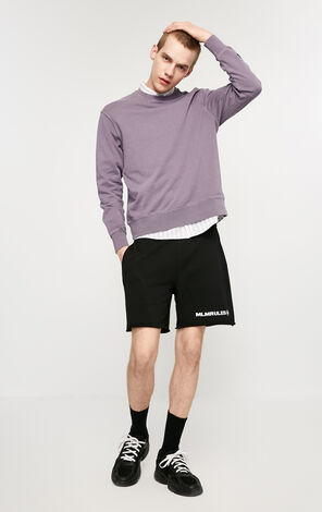 MLMR Men's Spring 100% Cotton Letter Embroidery Drawstring Waistband Sports Shorts |219115508