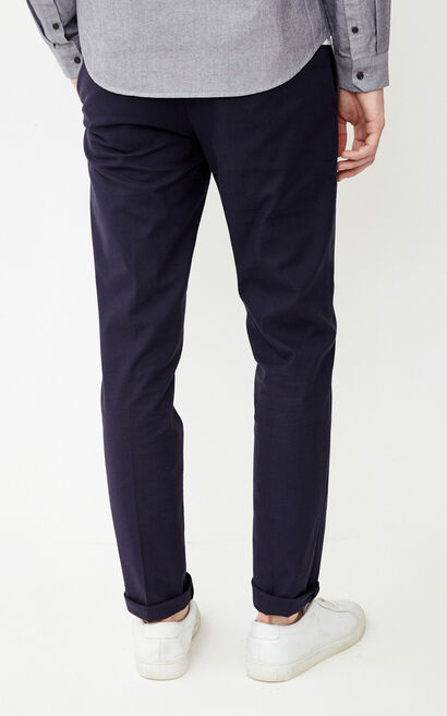 JackJones Men's Pure Color Lycra-blend Cotton Slim Fit Casual Pants E|218114509, Blue, large