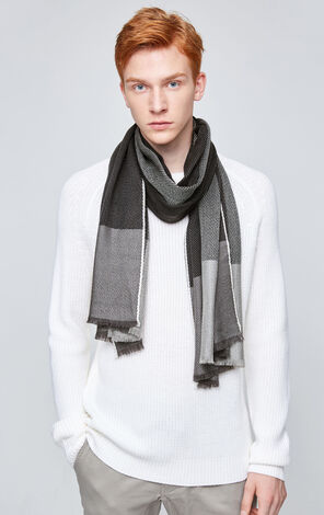 JackJones Men's Autumn & Winter 100% Wool Contrasting Scarf E|217488504