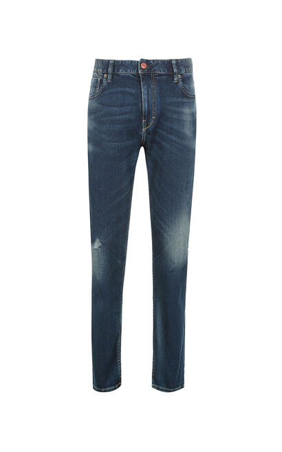 JackJones Men's Summer Slim Fit Lycra Washed Finish Jeans O|217232502, Blue, large