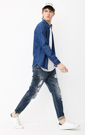JO RAY CROPPED SLV DYLAN TORN JEANS