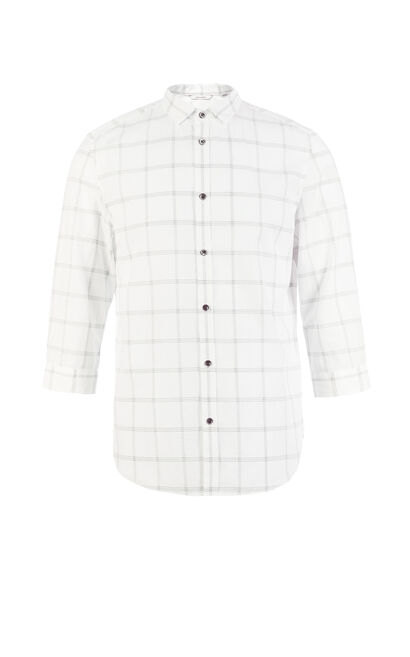 E DANTE SHIRT 3/4(REGULAR FIT), White, large
