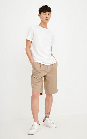 JACK JONES MEN'S LOOSE FIT PURE COLOR COTTON SHORTS | 218215534