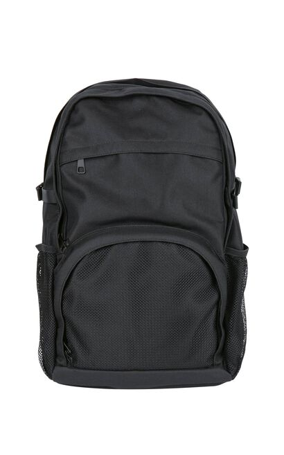 JackJones Men's Mesh Splice Zipped Backpack C|217385515, Black, large