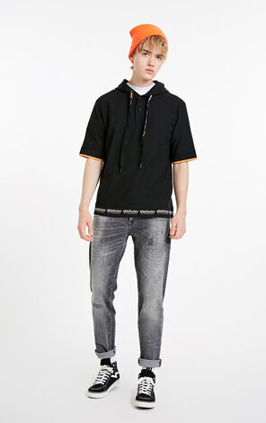 MLMR Men's Spliced Hooded POLO T-shirt M|219106529
