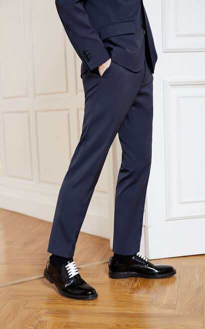 JackJones Men's Spring Slim Fit Suit Pants E|219114560, Blue, large