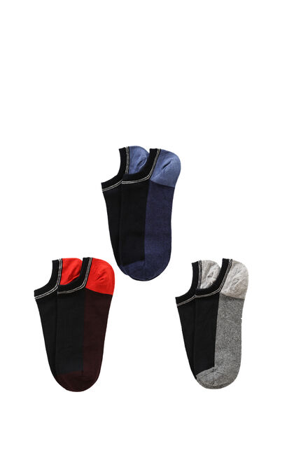JackJones Men's Summer 3-pack Slight Stretch Light-weight Woven Socks E|21731Q505, Blue, large