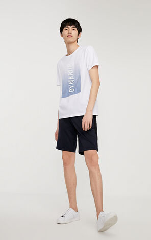 JackJones Men's Letter Printed Drawstring Casual Shorts C|219315504