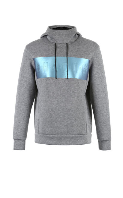 JackJones Men's Straight Fit Cotton Space Pullover Hoodie C|218133502, Grey, large