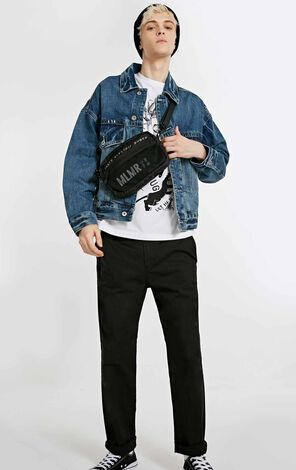 MLMR Men's Autumn 100% Cotton Loose Fit Fading Short Denim Jacket M|218357502