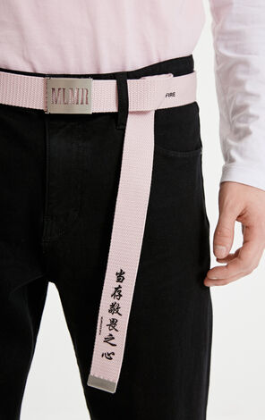 MLMR spring and summer men's fashion trend personality wear-resistant letters decorative belt M|21915O503