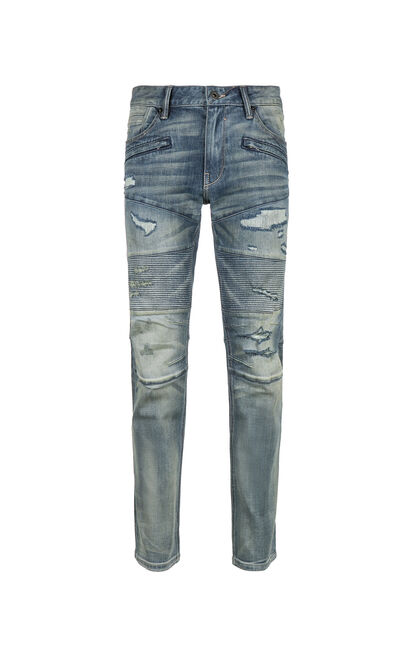 JackJones Men's Autumn Ripped Splice Distressed Jeans JO|217332555, Blue, large