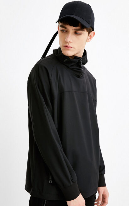 C CEFIRO SHIRT L/S(SPECIAL FIT), Black, large