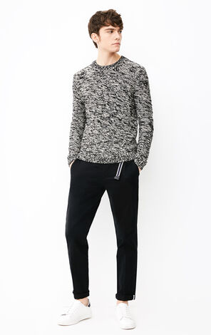 JACK JONES MEN'S LOOSE FIT STRETCH ROUND NECKLINE BLENDING YARN KNITTED SWEATER | 218125506