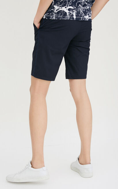 JackJones Men's Summer Slim Fit Pure Color Lycra Stretch Shorts S|217215514, Blue, large
