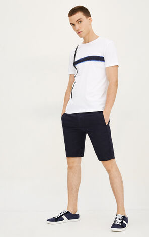 JackJones Men's Spring & Summer Pure Color Regular Fit Linen Shorts E|217215517