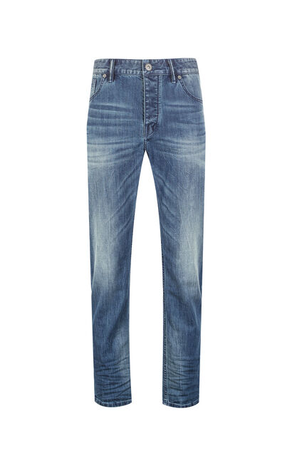 JackJones Men's Spring & Summer Lycra Gathered Jeans O|217232511, Blue, large