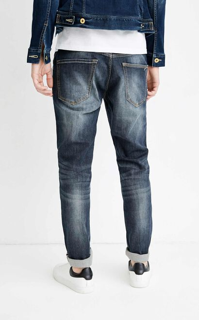 JO STEVE FLEX LAN WASHOUT JEANS, Blue, large