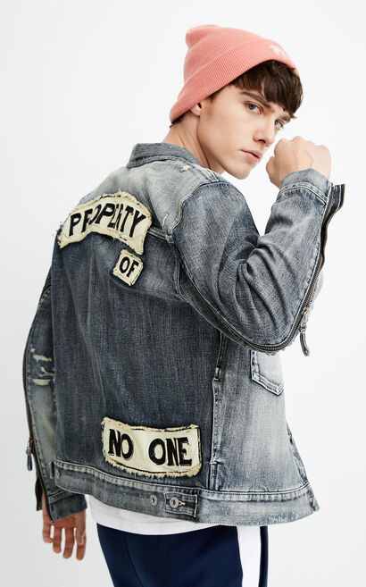 JO SMASH&SHATTER DENIM JACKET, Blue, large
