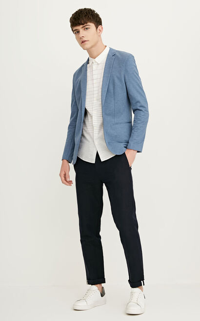 E WOGE BLAZER(SLIM FIT), Blue, large