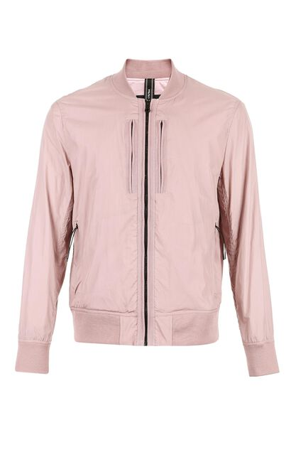 JackJones Men's Baseball Collar Jacket M|218121523, Pink, large