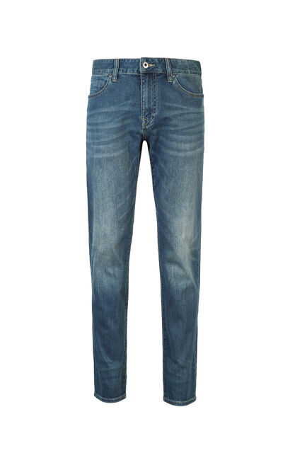 JackJones Men's Slim Fit Lycra Jeans C|217132555, Blue, large