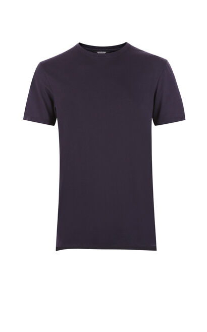 JackJones Men's Regular Fit Pure Color Round Neckline Short-sleeved T-shirt C|217201562, Blue, large