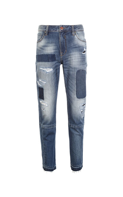 JO RAY CROPPED TWISTED UNIVERSE JEANS, Blue, large