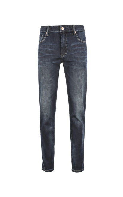 Jack Jones Men's Spring & Summer Lycra-blend Pleat Fading Jeans JC|217432514, Blue, large