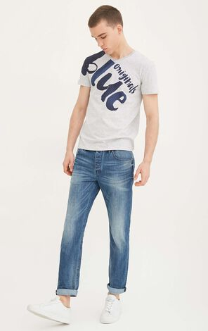 JackJones Men's Spring & Summer Lycra Gathered Jeans O|217232511