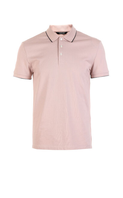 C WEB SOLID POLO-SHIRT S/S(SLIM FIT), Pink, large