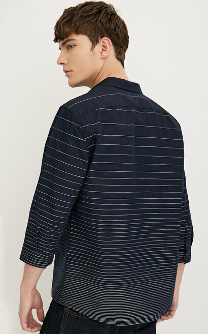 E AEGEON SHIRT 3/4(REGULAR FIT), Navy Blue, large