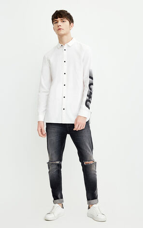 M FLAME SHIRT L/S(STRAIGHT FIT)