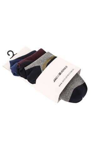 JackJones Men's Striped Contrasting Moisture-wicking Socks E|21731Q508