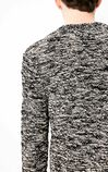 JACK JONES MEN'S LOOSE FIT STRETCH ROUND NECKLINE BLENDING YARN KNITTED SWEATER | 218125506, White, large