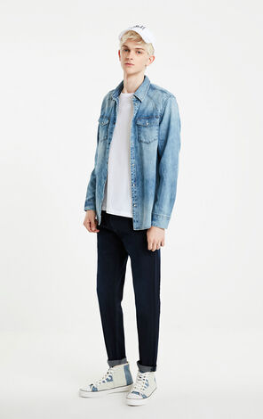JackJones Washed Finish Fading Denim Shirt J|219105523
