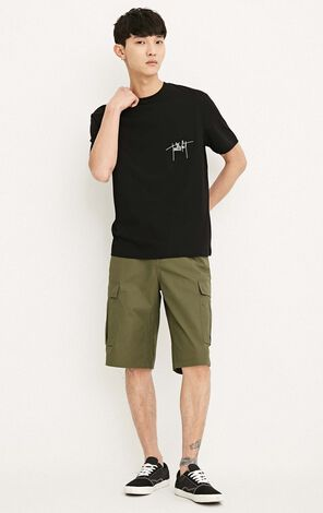 MLMR Men's Summer 100% Cotton Pure Color Casual Shorts |218215512