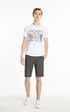 JackJones Men's Spring Creative Pattern Slim Fit 100% Cotton Short-sleeved T-shirt E|219101513