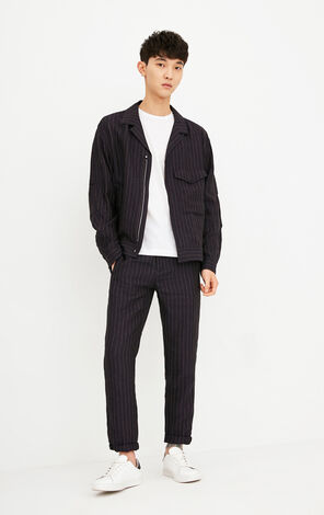 JackJones Men's Light-weight Vintage Striped Jacket E|218221508