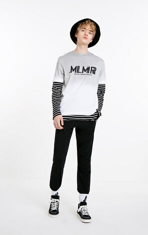 MLMR Men's Loose Fit Knitted Sweatpants M|219114569
