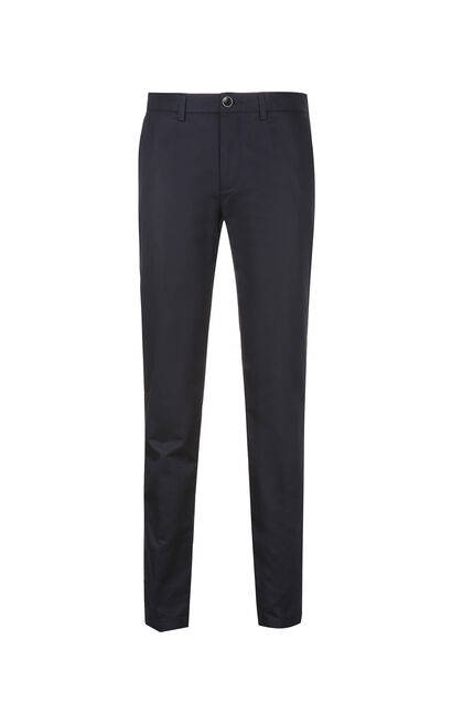 JackJones Men's Spring Slim Fit Linen Roll-up Pants E|217114509, Blue, large